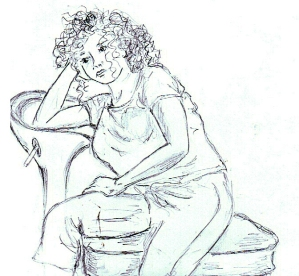 life drawing sketch - © Carrie