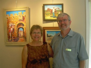 Neil Loewen, president of the CFVGG and his wife Bettylou