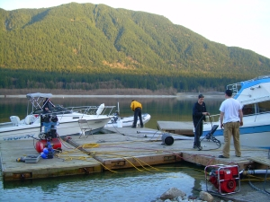 Alouette Lake - FX team at work 1