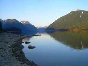 Alouette Lake - taken from the dock - early evening