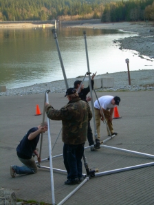 FX Team - setting up rain towers