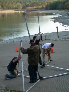 FX Team - setting up rain towers
