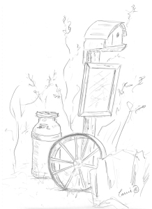 Sketching at the Farm 1 - Carrie ©