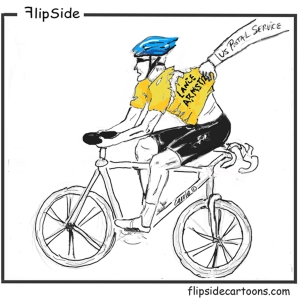 Lance Armstrong cartoon 700 with Flipside