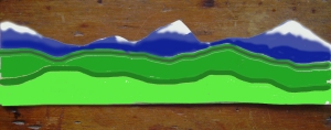 Diorama mountain pattern colored 1