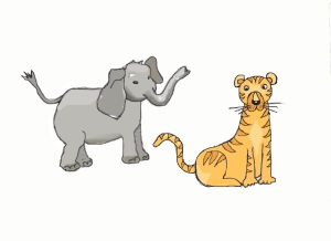 Elephant tiger 1