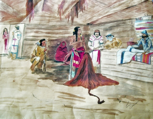 Fur Trade - Fort Langley, BC - © Carrie Wachsmann -  watercolor
